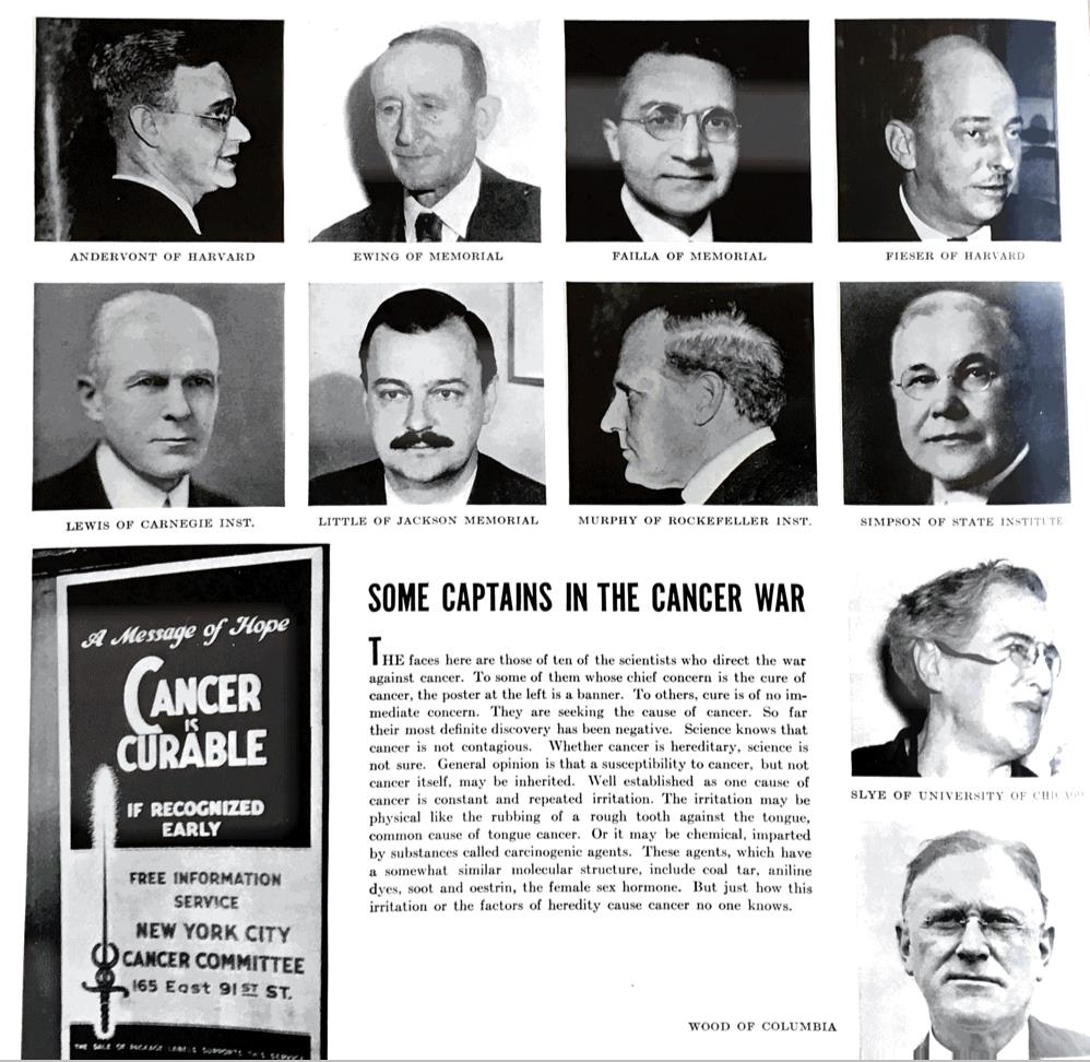 'Captains in the Cancer War': Life magazine of March 1, 1937