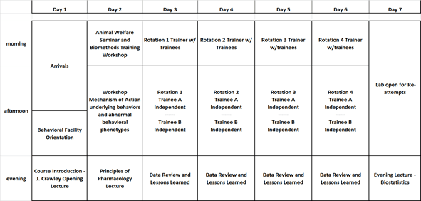 behavior course matrix