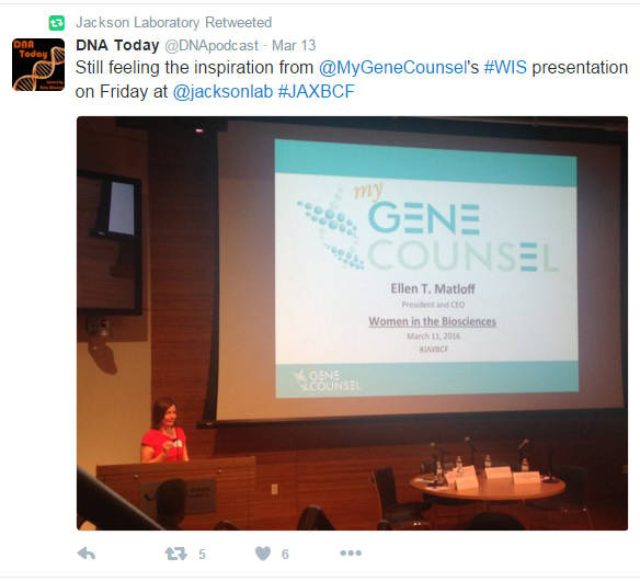 DNA Podcast Tweet at JAX GENOMIC MEDICINE