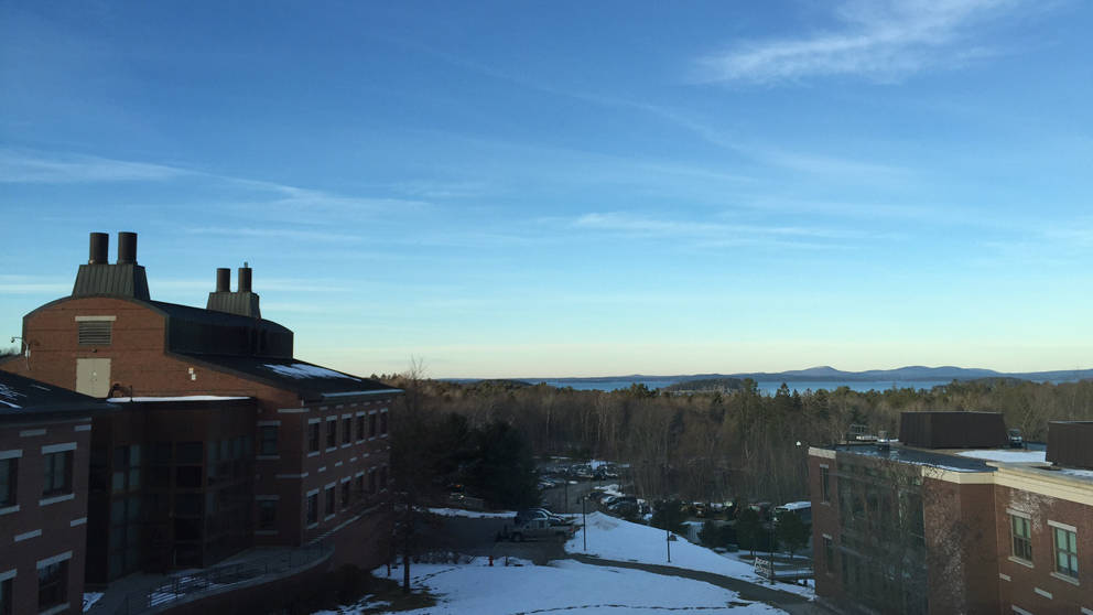 View from Steve Munger's office at The Jackson Laboratory in Bar Harbor, Maine