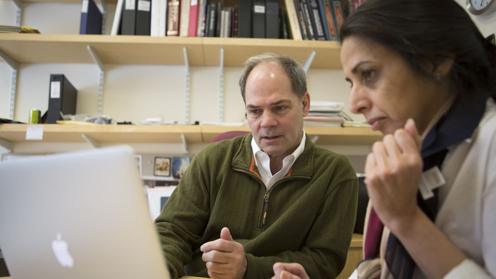 Bob Braun, Ph.D. collaborates with Manju Sharma, Ph.D.