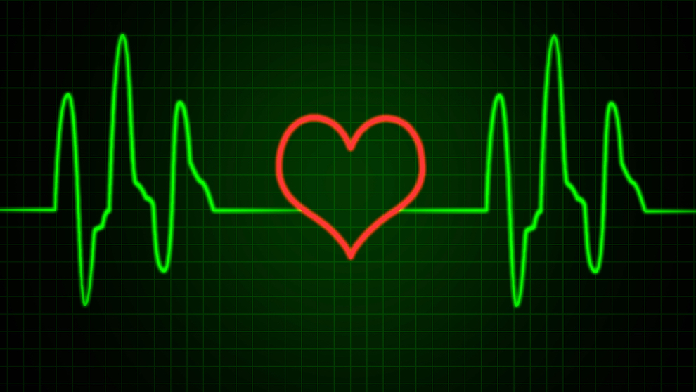 EKG and heart shape graphic (Bigstock)
