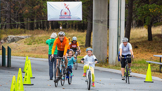 Raise Funds - family participanting in bike event