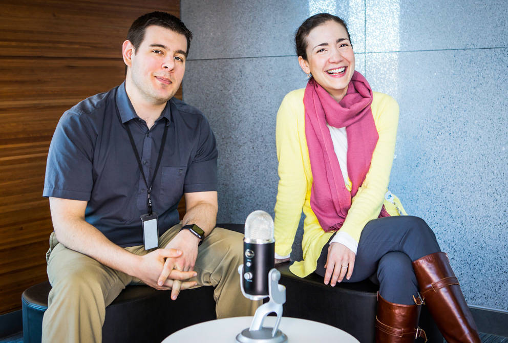 Dave Mellert and Anna Lisa Lucido, hosts of the Supplemental Material JAX Podcast