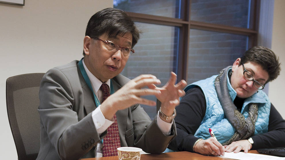 Edison T. Liu, M.D. - President & CEO in a meeting setting